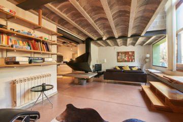 Sala d'estar i biblioteca